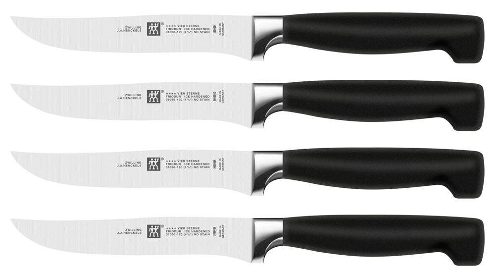 Pack of 4 Traditional Steak Knives Table Cutlery Stainless Steel By Chef Aid