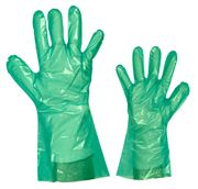 PE one-way glove green 35cm S1