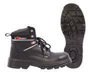 U-Power Concept M lace-up shoe high with steel toe cap black size 38-48