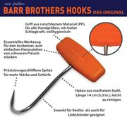 Barr Brothers grip hook with oval handle 14cm, orange