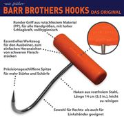 Barr Brothers grip hook with round handle 14cm, orange